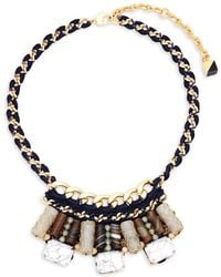 Nocturne - Crystal Beaded Statement Necklace - Lyst