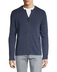 John Varvatos - Textured Cotton Top - Lyst