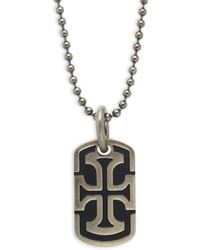 Saks Fifth Avenue - Cross Stainless Steel Dog Tag - Lyst