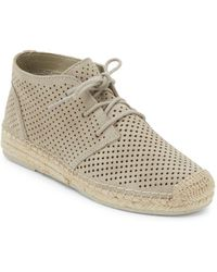 Dolce Vita - Tibbie Perforated Suede Espadrille Sneakers - Lyst