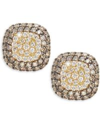 Effy - Diamond Espresso Diamond & 18k Yellow Gold Stud Earrings - Lyst