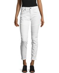 True Religion - Cropped-cut Jeans/white - Lyst