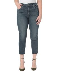 NYDJ - Plus Marilyn Raw-hem Straight Ankle Jeans - Lyst