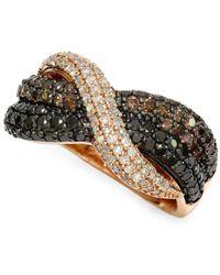 Effy - Diamond And 14k Rose Gold Ring, 1.29 Tcw - Lyst