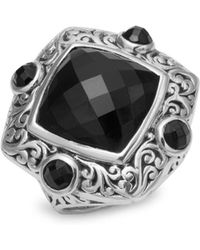 Lois Hill - Black Onyx & Sterling Silver Ring - Lyst
