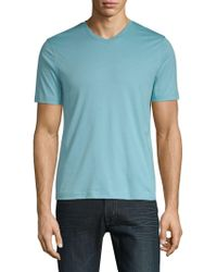 Saks Fifth Avenue - V-neck Short-sleeve Cotton Tee - Lyst