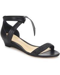 Alexandre Birman - Atenah Woven Leather Demi-wedge Sandals - Lyst