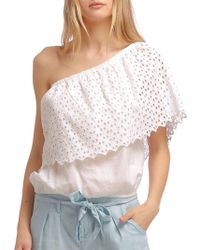 W118 by Walter Baker - Taryn One Shoulder Top - Lyst