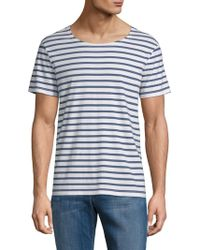 ELEVEN PARIS - Shell Striped Cotton Tee - Lyst