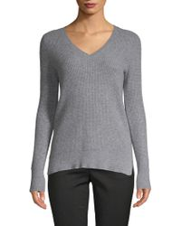 Saks Fifth Avenue - Waffle-stitched Cashmere Sweater - Lyst