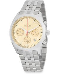 Bulova - Surveyor Stainless Steel Bracelet Watch - Lyst