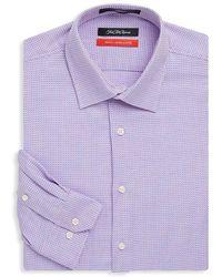 Saks Fifth Avenue - Trim-fit Cotton Dress Shirt - Lyst