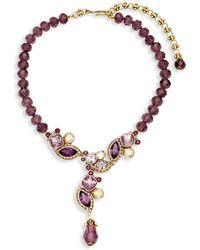 Heidi Daus - Garland Crystal & Rhinestone Y-drop Pendant Necklace - Lyst