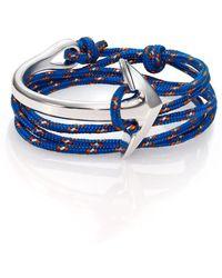 Miansai - Half Anchor Cuff Rope Bracelet/silvertone - Lyst