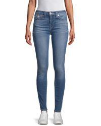 True Religion - Faded Skinny Jeans - Lyst