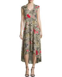 Plenty by Tracy Reese - Floral Hi-lo Dress - Lyst