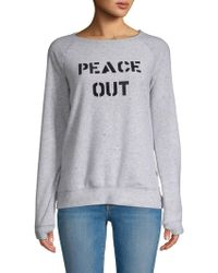 Peace Love World - Classic Printed Sweatshirt - Lyst