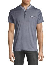 Saks Fifth Avenue - Band Collar Polo - Lyst