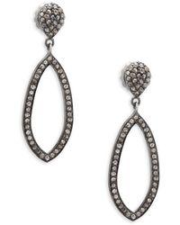 Bavna - Pavé Diamond & Sterling Silver Teardrop Earrings - Lyst
