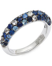 Effy - Sterling Silver & Blue Sapphire Band Ring - Lyst