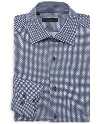 Saks Fifth Avenue - Collection Circle Diamond Medallions Dress Shirt - Lyst