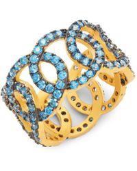 Freida Rothman - Baroque Blues Giotto Crystal Ring - Lyst
