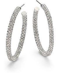 "Adriana Orsini - Pavà Crystal Hoop Earrings/1.25"" - Lyst"