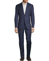 Saks Fifth Avenue - Wool Windowpane Suit - Lyst