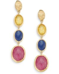 Marco Bicego - Siviglia Multicolour Sapphire & 18k Yellow Gold Drop Earrings - Lyst