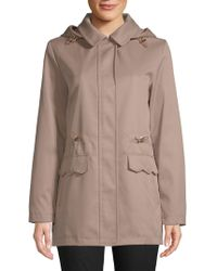 Kate Spade - Drawcord Collared Raincoat - Lyst
