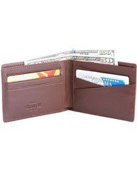 Royce - Rfid Blocking Leather Bi-fold Wallet - Lyst