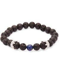 Perepaix - Choyserea Lapis Lazuli, Crystal And Silver Bracelet - Lyst