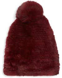 Saks Fifth Avenue - Dyed Rabbit & Fox Fur Beanie - Lyst