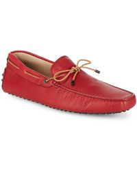 Tod's - Slip-on Leather Drivers - Lyst