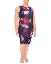 CALVIN KLEIN 205W39NYC - Floral Printed Sheath Dress - Lyst