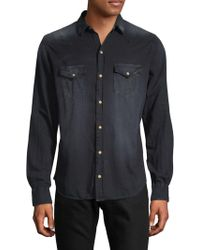 Robin's Jean - Bar Wings Cotton Button-down Shirt - Lyst