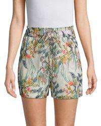Walter Baker - Joanna Printed Drawstring Shorts - Lyst