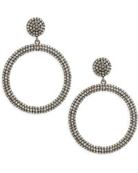 Bavna - Champagne Diamond & Sterling Silver Champ Rose Round Earrings - Lyst