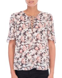 B Collection By Bobeau - Floral-print Top - Lyst