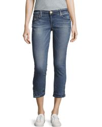 True Religion - Casey Skinny-fit Cropped Jeans - Lyst