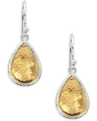 Gurhan - Amulet 24k Gold-plated & Sterling Silver Pear Drop Earrings - Lyst