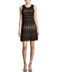 Adrianna Papell - Sleeveless Shift Dress - Lyst