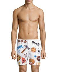 Orlebar Brown - Emoji-print Swim Trunks - Lyst