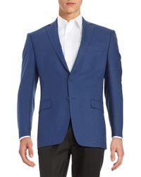 Calvin Klein - Slim-fit Checked Wool Jacket - Lyst