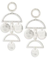Gemma Simone | Geo Sterling Silver Earrings | Lyst
