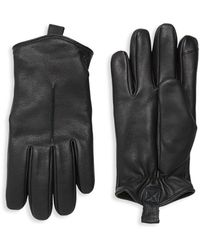 Saks Fifth Avenue - Rugged Leather Tech Gloves - Lyst