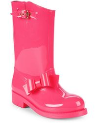 RED Valentino - Rubber Bow Rainboots - Lyst