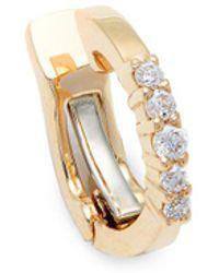Saks Fifth Avenue - Pavé Diamond And 14k Yellow Gold Earcuff Earring - Lyst
