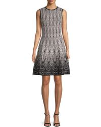Ronny Kobo - Brianna Printed A-line Dress - Lyst