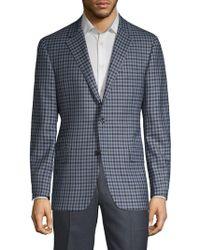 Hickey Freeman - Plaid Wool Sportcoat - Lyst